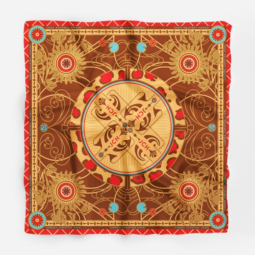 Silk scarf design