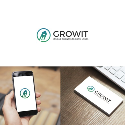 Clean design for Growit