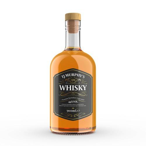 Australian Whisky Label Design