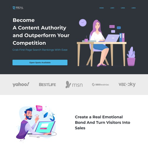 Content Marketing Business Web UI