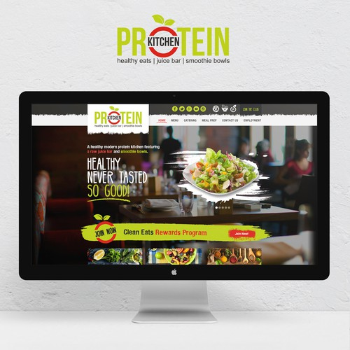 Website for modern healthy restaurant