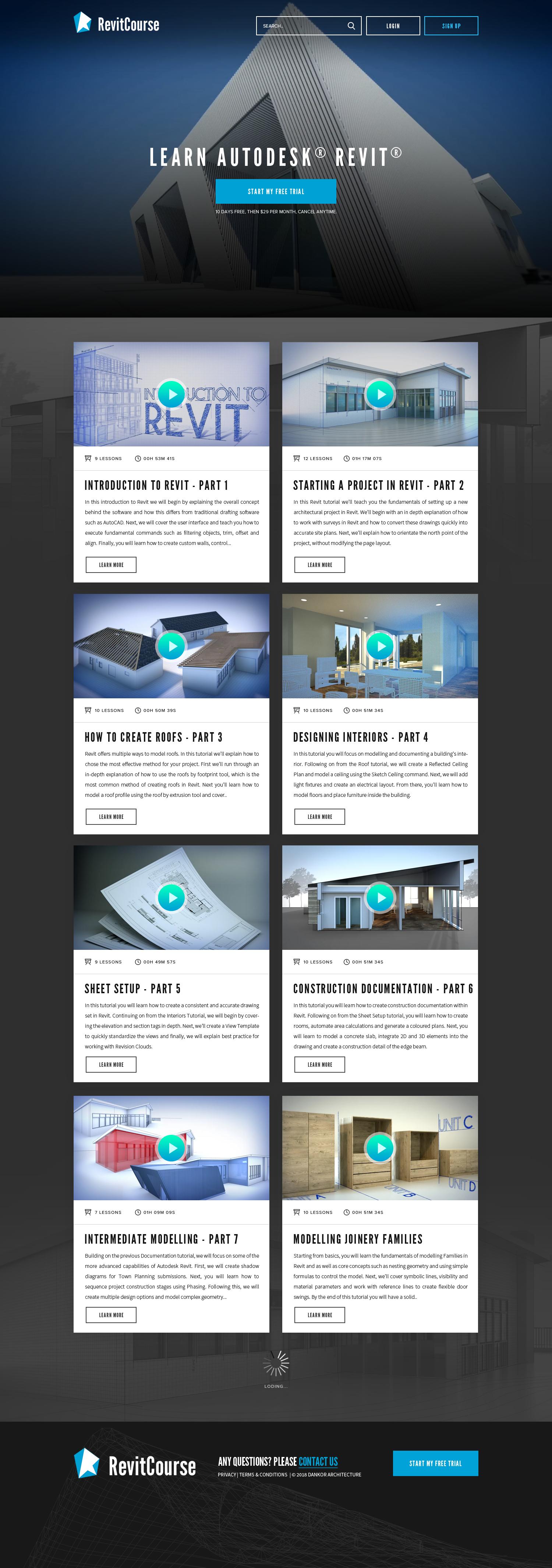 Revitcourse.com re-design