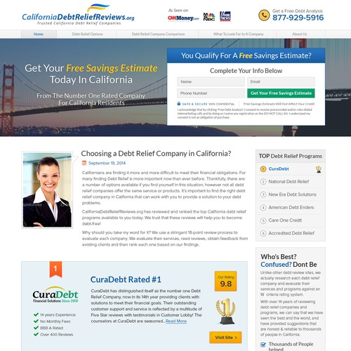 Create a high converting capture page for a Top Review Site