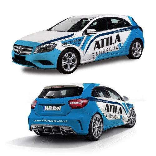Atila Driver School Car Wrap