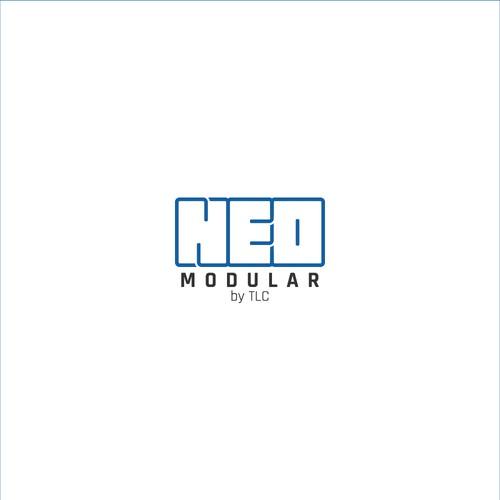 Concept logo for modular solutions