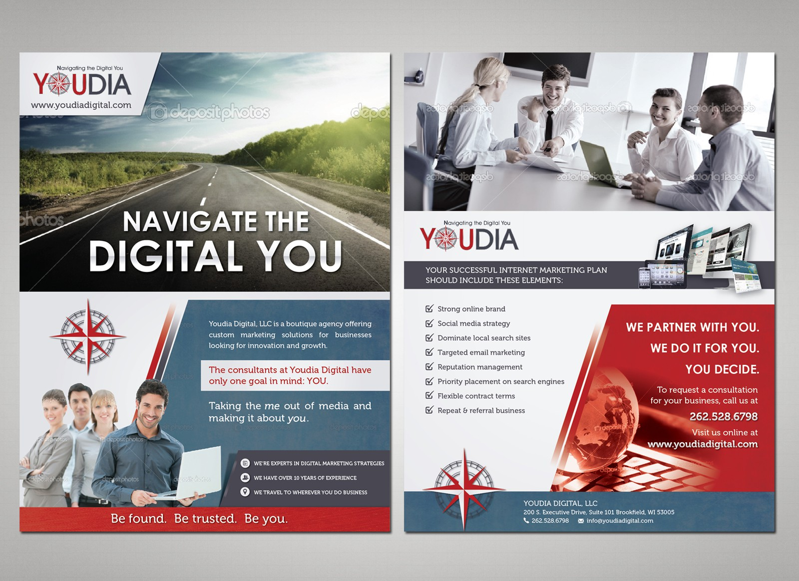 Help Youdia Digital, LLC with a new postcard or flyer