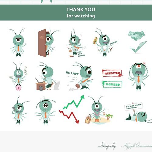 Rigo, office plankton. Character concept