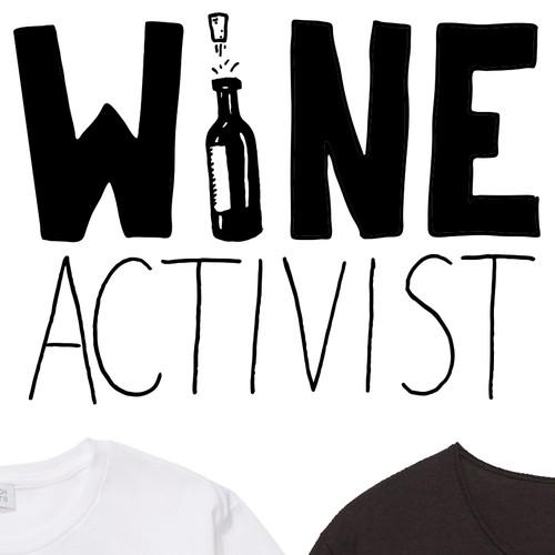 T-Shirt Design for Wine Club