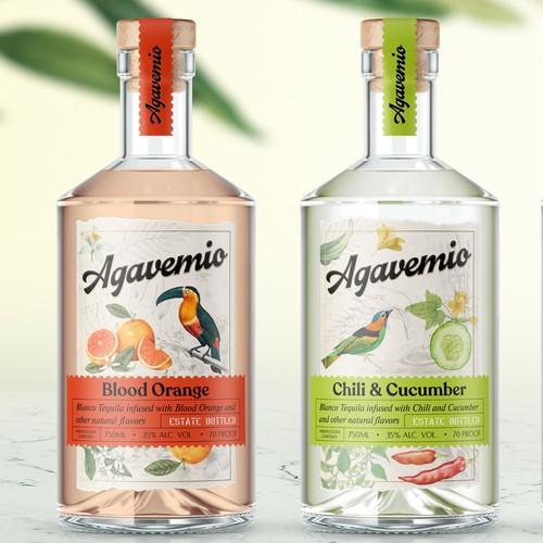 Tequila label design