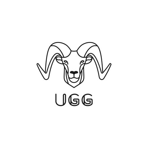 Line art logo concept