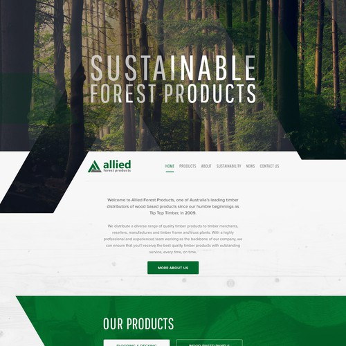 Website for Australian timber distributors