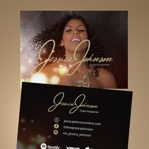 Postcard flyer and social media designs