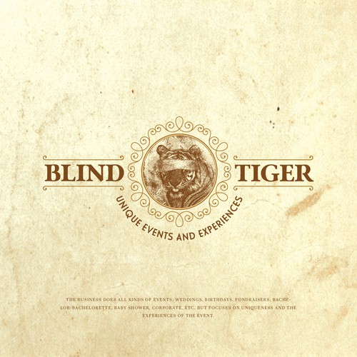 Logo concept for Blind Tiger Logo for an event business