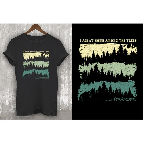 Design a hip outdoor/mountain themed t-shirt.