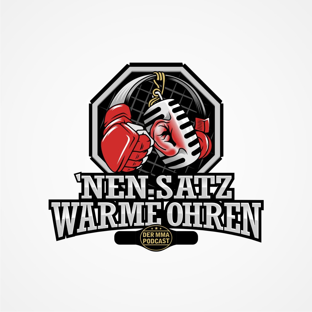create a modern, geometric and attracting logo for an entertaining german mixed martial arts podcast