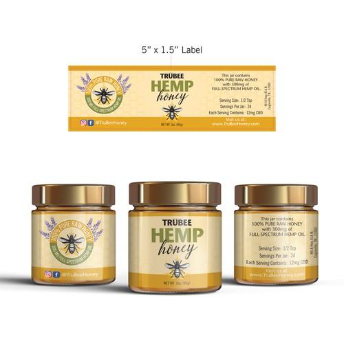 Hemp Honey Label