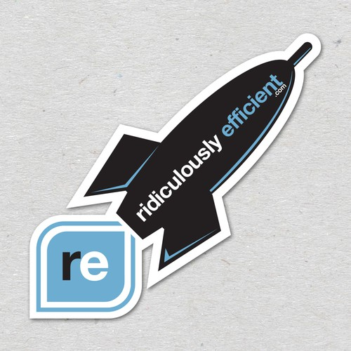 Sticker for ridiculously efficient