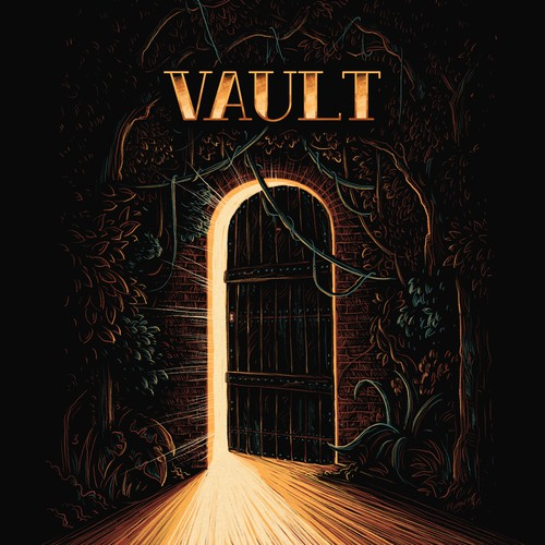 Vault beer label-8bit