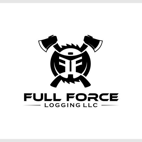 Bold logo emblem for Logging company