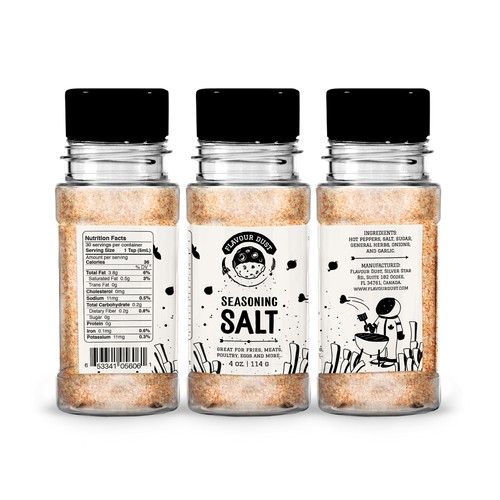 Concept of urban/gourmet label for FLAVOUR DUST
