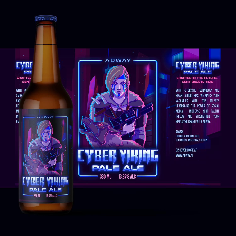 80s neon/cyberpunk/retro beer label ideas wanted!