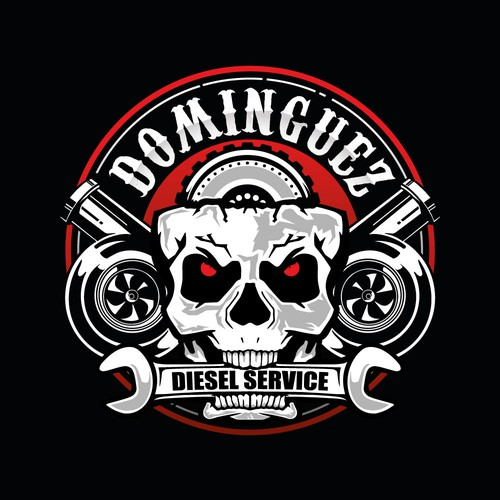 Strong and bold logo for diesel repair shop