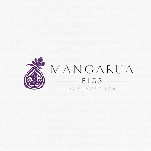 Organic logo for a fig farm company