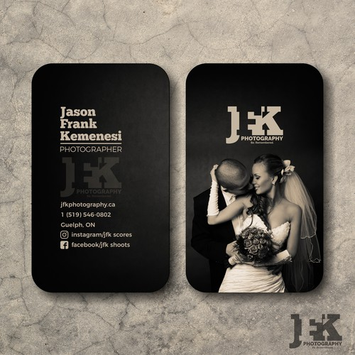 JFK - Logo and business cards for a photographer