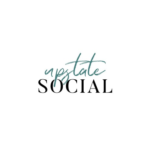 Minimalist logo for social blog
