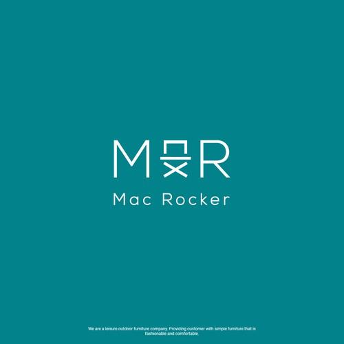 minimalist logo design for MAC ROCKER