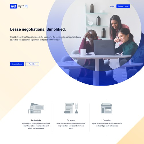 Homepage for a Leasing Company
