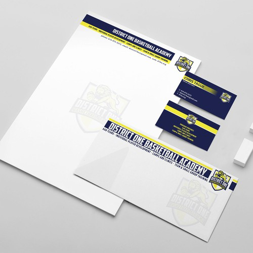 Sporty Design Stationery for DistrictOne