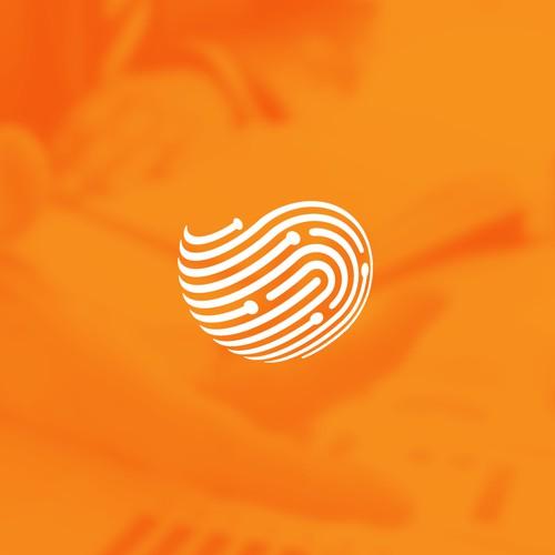 Fingerprint Tech Monogram Logo