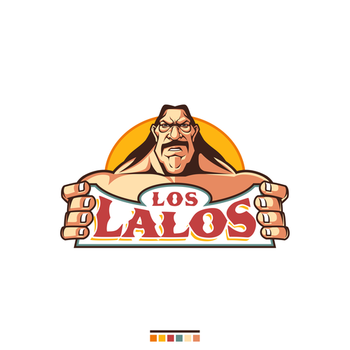 Fun cartoon logo for LOS LALOS
