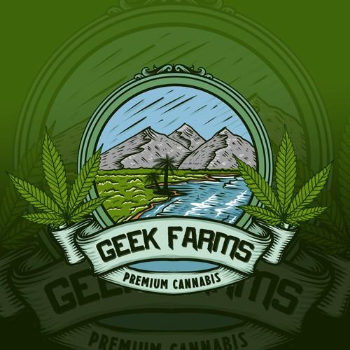 Premium cannabis logo