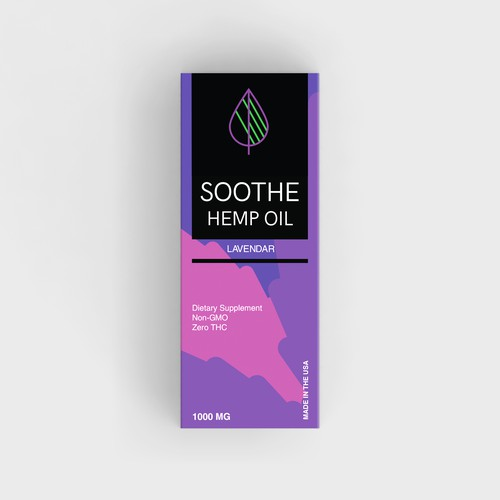 Product packaging for flavored hemp oil