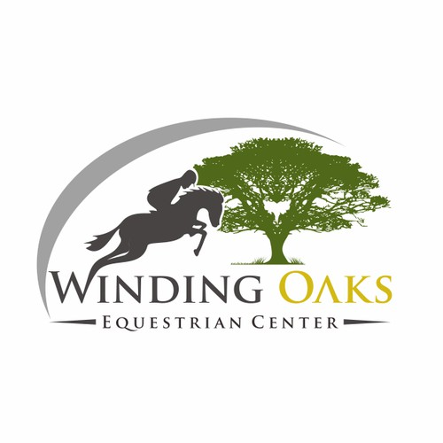 Create an action design of a horse jumping out of a southern grandfather oak