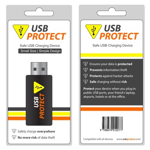 Packaging for safe USB charging stick