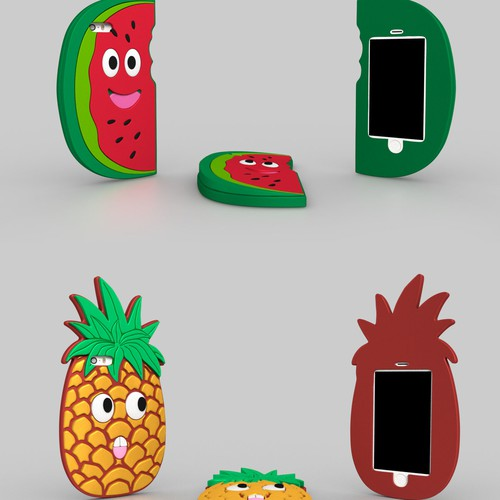 Design funky fruit covers for iPhone and iPod