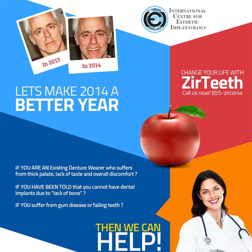 Create a Full Page Advertisements for Dental Implant Center