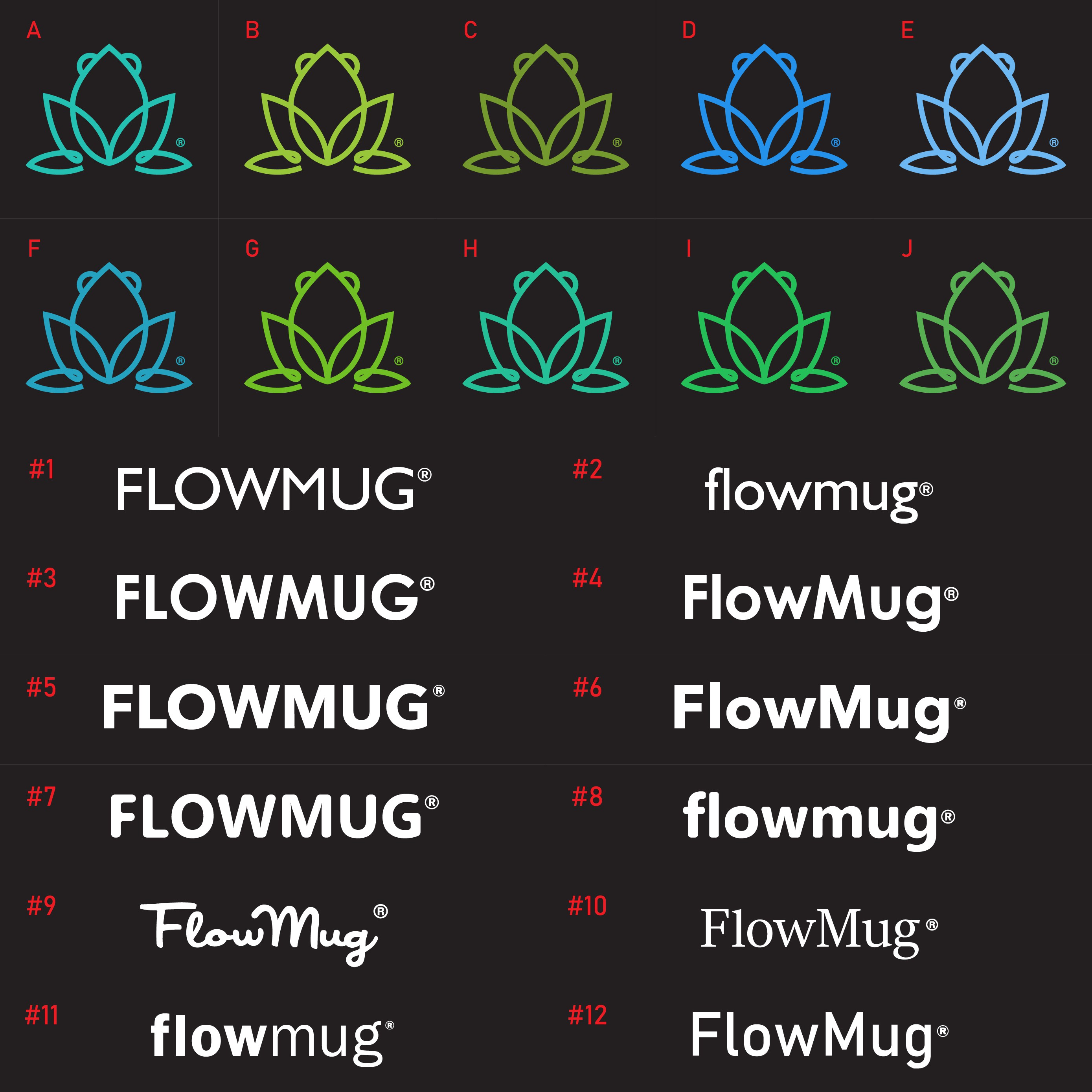"Design the logo for ""Flow Mug"" -- for tumblers, mugs and drinkware!"