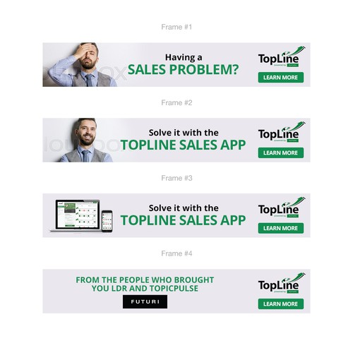 Animated banner design for Topline