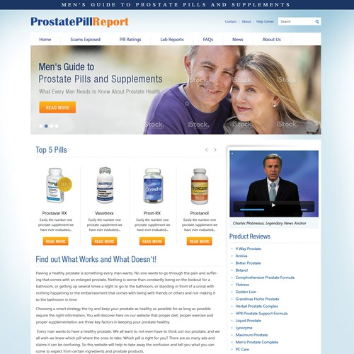 Re-Design ProstatePillReport.com - GUARANTEED - Great CH - Long Term Work Possibility