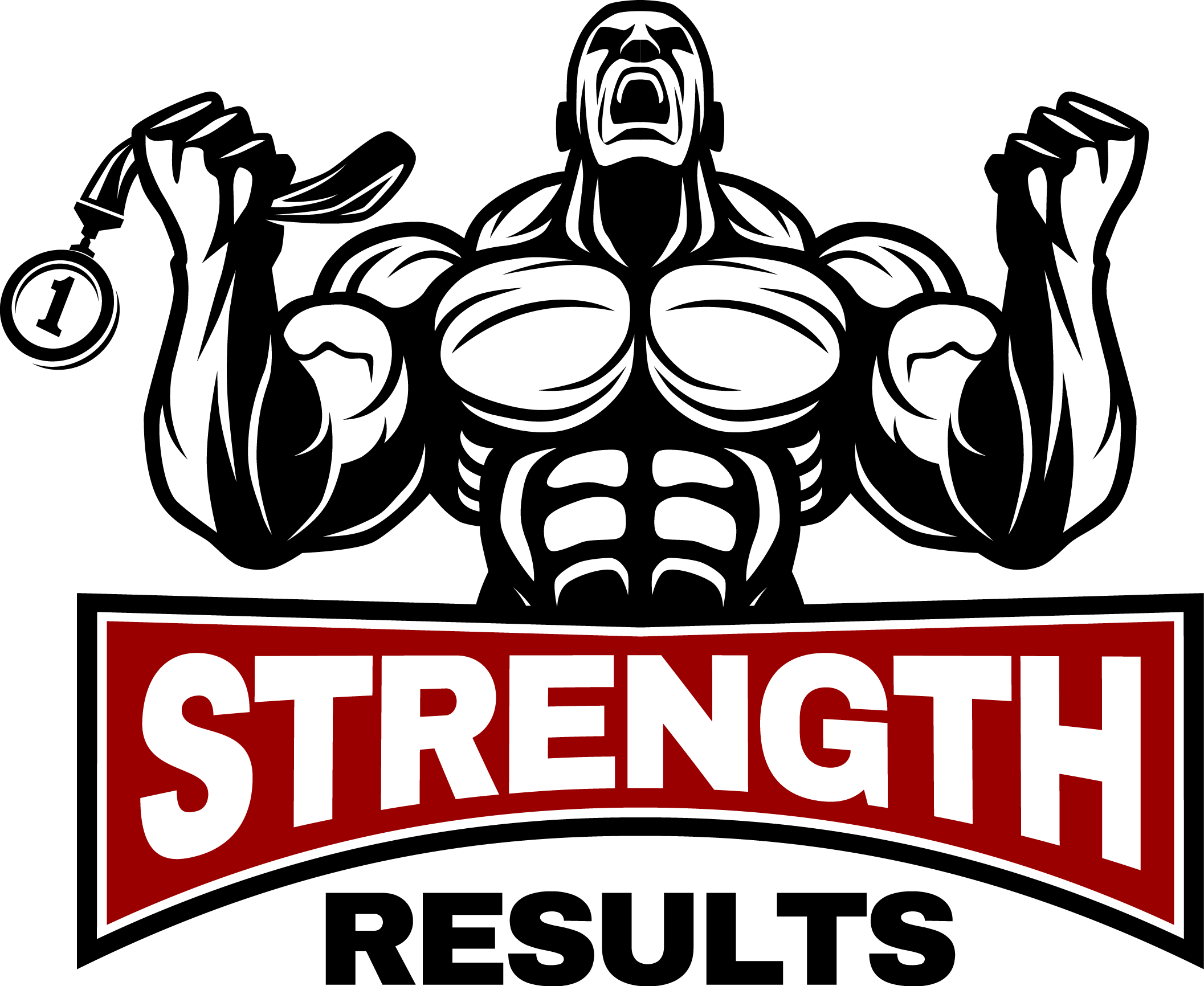 Create powerful logo for a strength results site