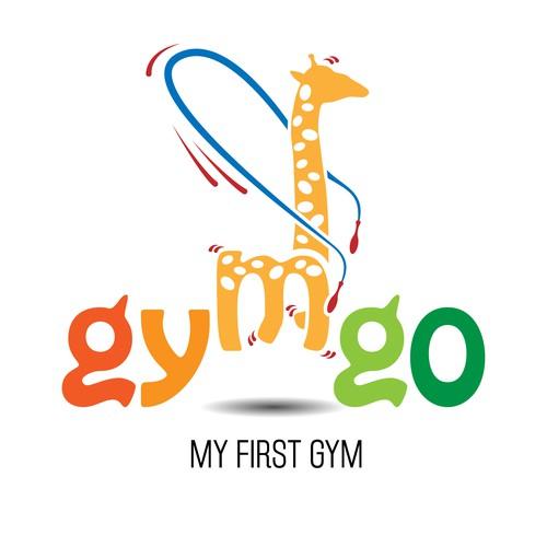 Logo for a kids fitness center