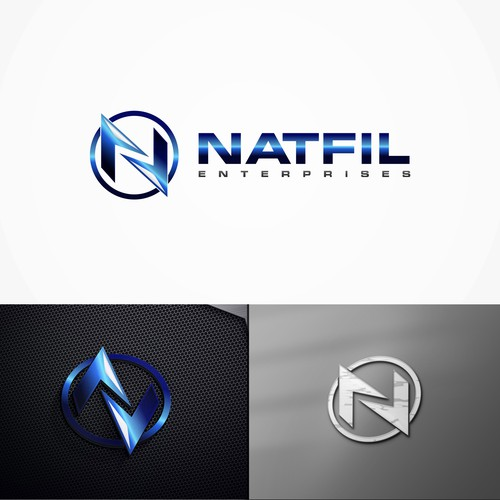 Create a modern abstract logo for industrial company