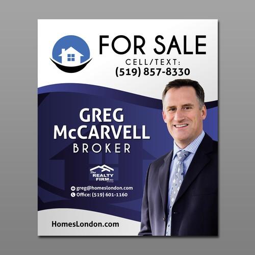 Signage design for Real Estate Broker