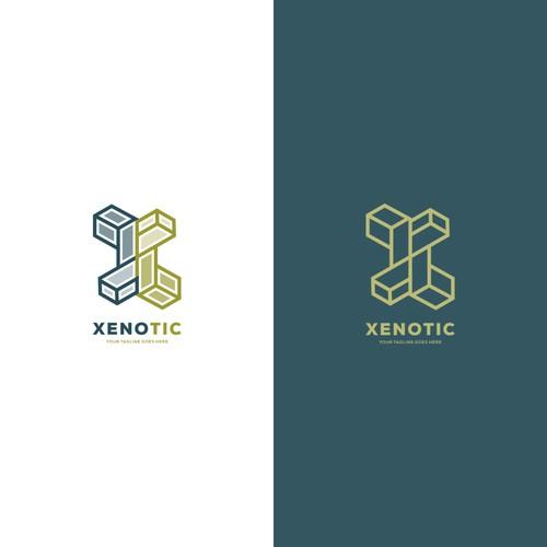 Xenotic Techology logo designs