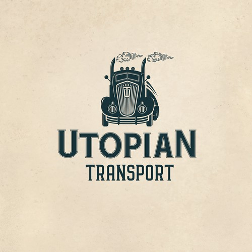 A Cool Vintage Logo for Utopian Transport