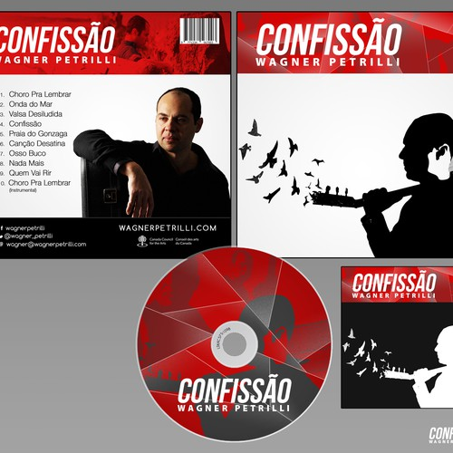 Create CD Cover for Brazilian composer and guitarist Wagner Petrilli